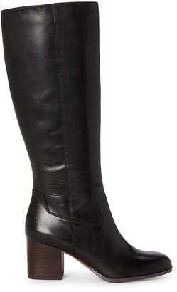 Franco Sarto Black Anberlin Knee-High Leather Boots
