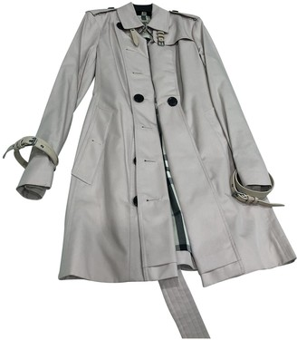 Burberry Pink Linen Trench Coat for Women