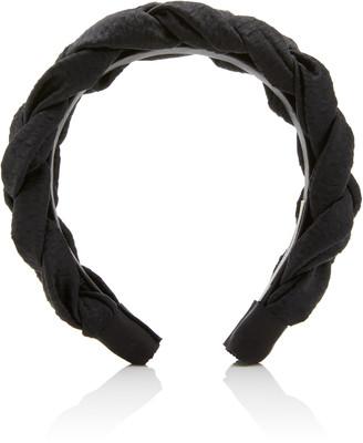 Jennifer Behr Lorelei Braided Hammered Silk Headband