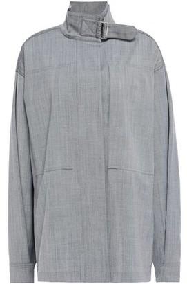 Victoria Beckham Buckle-detailed Wool-blend Shirt