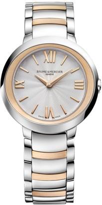 Baume & Mercier Promesse Two-Tone 18K Rose Gold & Stainless Steel Bracelet Watch