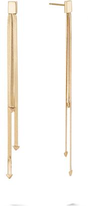 Lana 14k 3-Strand Linear Dangle Earrings