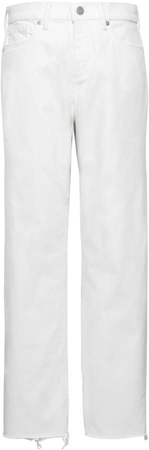 Banana Republic Girlfriend Stain-Resistant Cropped Jean with Fray Hem