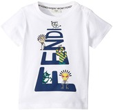 Fendi Short Sleeve Logo Graphic T-Shirt Boy's T Shirt