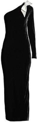 Polo Ralph Lauren Velvet One Shoulder Midi Dress