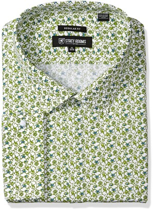 Stacy Adams Men's Big and Tall Floral Vines Classic FIT Dress Shirt
