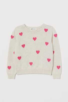H&M Heart-patterned jumper
