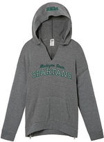 PINK Michigan State University Drop Shoulder Pullover Hoodie