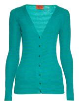 Missoni Striped knit button-down cardigan