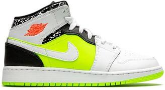 """Nike Kids TEEN Air Jordan 1 Mid """"Notebook"""" sneakers"""