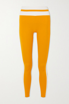Vaara Flo Tuxedo Striped Stretch Leggings - Saffron