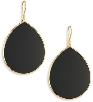 Ippolita Onyx & 18K Yellow Gold Large Teardrop Earrings