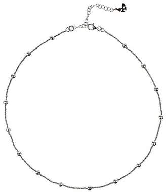Vamp London Vamp Chic Rio Beaded Black Sterling Silver Collar Necklace of Length 45cm VCN088-OX