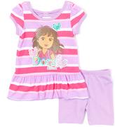 Children's Apparel Network Dora the Explorer Purple & Pink Tee & Shorts - Infant & Toddler