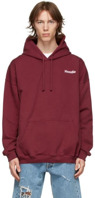 Vetements Burgundy Definition Hoodie