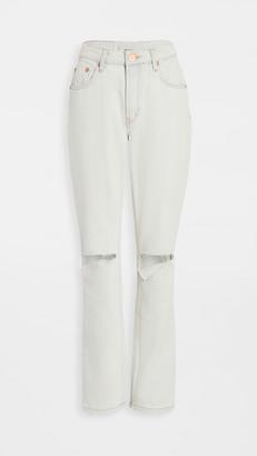 One Teaspoon Awesome Baggies High-Waist Straight Leg Jeans
