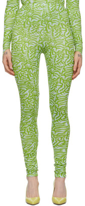 MAISIE WILEN Green and Blue Patterned Leggings