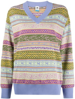 M Missoni Striped Pattern Jumper