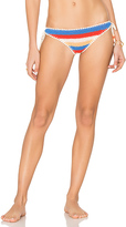 Seafolly Caribbean Kool Tie Side Brazilian Bottom in Red. - size L (also in M,S,XS)