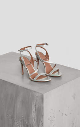 BCBGMAXAZRIA Amilia Metallic Faux Leather Sandal