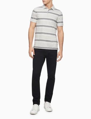 Calvin Klein New Essentials Slim Fit Liquid Touch Autostripe Polo Shirt