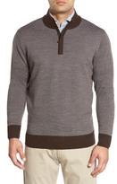 Peter Millar Quarter Zip Merino Wool Sweater