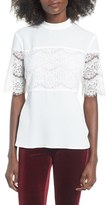 WAYF Women's Pike Lace Inset Top