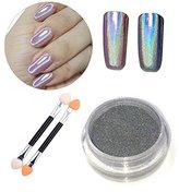 PrettyDiva 1 Jar Pure Holographic Powder Rainbow Chrome Nails Powder Manicure Pigment