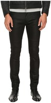 Belstaff Elmbridge Slim Fit Resin Coated Stretch Motor Denim in Black Men's Jeans