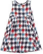 Marni Allover Plaid Print Sleeveless Dress