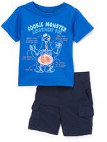 Children's Apparel Network Sesame Street Cookie Monster Blue Tee & Shorts - Infant