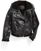 Bernardo Girl's Faux Leather Moto Jacket