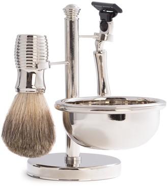 Bey-Berk 3-Piece Mach3 Razor, Badger Brush & Soap Dish Travel Set