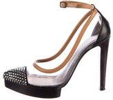 Lanvin Strass-Embellished Ankle Strap Pumps