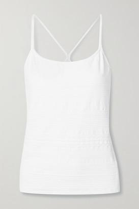 L'Etoile Sport Textured Stretch-jersey Tank - White