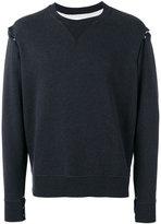 Maison Margiela snap button felpa sweatshirt - men - Cotton - 46
