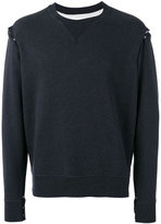 Maison Margiela snap button felpa sweatshirt - men - Cotton - 48