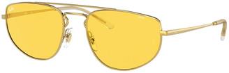 Ray-Ban Metal Aviator Sunglasses with Evolve Lenses
