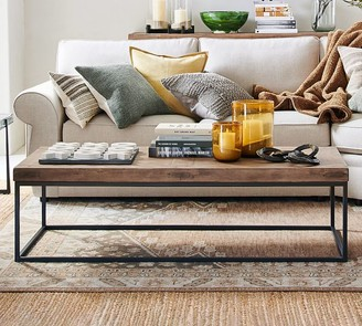 "Pottery Barn Malcolm 60"" Rectangular Coffee Table"