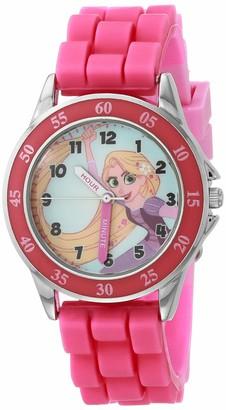 Disney Girls' Quartz Watch with Silicone Strap Pink 15 (Model: TTV9002AZ)