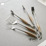 Crate & Barrel Schmidt Brothers ® 4-Piece Bonded Teak Barbecue Tool Set