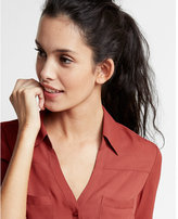 Express Slim Fit Solid Portofino Shirt