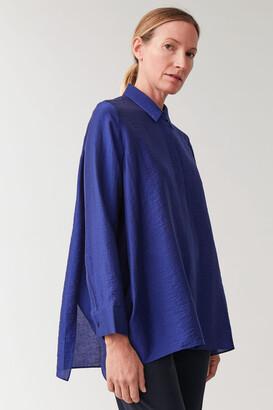 Cos Crinkled Draped Shirt