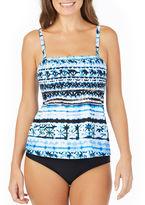 ST. JOHN'S BAY St. John's Bay Moroccan Sun Smocked Tankini Swimsuit Top