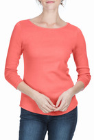 Lilla P 3/4 Sleeve Boat Neck Top