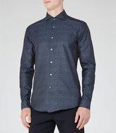 Reiss Reiss Brooklyn - Textured Weave Shirt In Blue, Mens