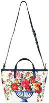 Dolce & Gabbana Maiolica Print Cotton Canvas Bag