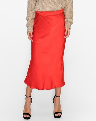 Express English Factory Midi Flare Skirt