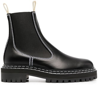 Proenza Schouler Contrast Stitching Boots