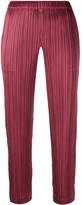 Pleats Please Issey Miyake micro pleated trousers